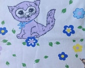 Seventies vintage childrens fabric - 100x50 cm.