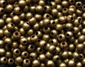 Bronze Spacer Beads - Over 200 - 4mm Round Beads Antique Bronze (GBD0008)