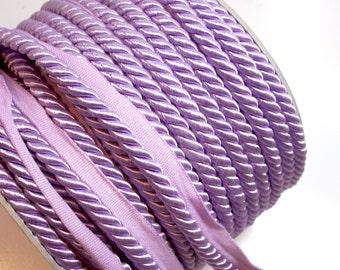 Purple Cord, Lilac Purple Braided Lip Cord Trim 5/16 inch x 3 yards, DecoPro Style 0516S Color D7