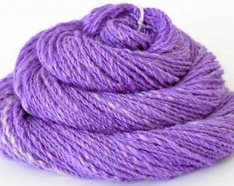 Handspun Yarn - Silk Yarn - Spindle Spun Yarn - DK - 0.8oz, 96yd, 15WPI,