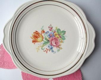 Vintage Universal Floral Serving Platter