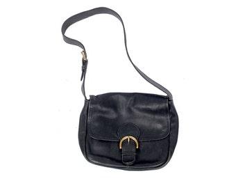 Vintage 80s COACH Bag - 90s Coach Bag - Coach Shoulder Bag - Black Leather Shoulder Bag - Coach Purse - Vintage Coach Bag - Black Coach Bag