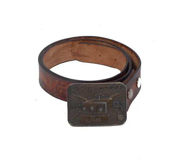 Vintage Brass Belt Buckles Brass Belt Buckle Brown