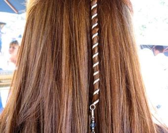 "6"" Hair Twister Mini -Rainbow, Metal Spiral Hair Wrap, Renaissance, Biker and Fashion Styles FREE USA SHIPPING!"