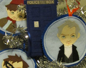 Doctor Who #12, Peter Capaldi Ornament, Wall Art, Patch Christmas Tree stocking stuffer gift
