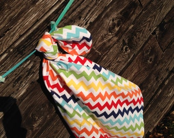 Rainbow Chevron Blanket Swaddler Light: Receiving Blanket