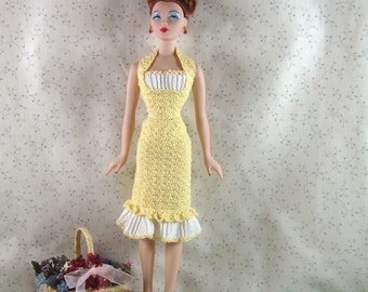 Crochet pattern for 16 inch dolls-pleated flounce dress