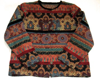 Tapestry Jacket / Cropped Tapestry Jacket / Woven Jacket