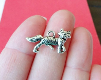 10 Fox Charms 23x13x3mm Hole: Approx. 2mm
