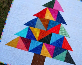 MODERN CHRISTMAS TREE Table Runner Wonderful Colorful Holiday Gift