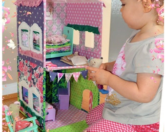 Two Story Fabric Dollhouse Pattern