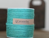 100 yds of Tropical Blue Jute Twine Cord