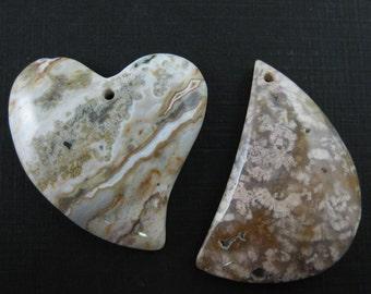 White Nature Stone -Gemstone Beads,Semi Precious Gemstones, Wholesale- Smooth Heart Shape-Smooth Tear Drop-Nature Gemstone - Sku: 330000-WNS