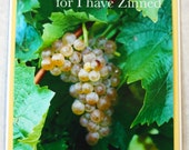 Photo Grapes in Vineyard Greeting Card - Wine Lovers Photograph on Blank Card