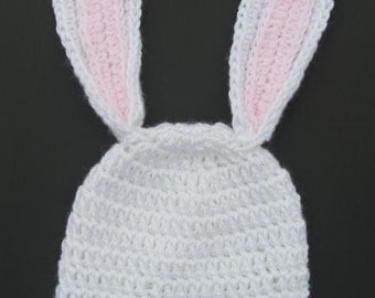 Baby Infant Hat Cap Crochet Easter Bunny Hat Infant Hat Toddler Rabbit Ears Hat  Knit Reborn Doll Hat Baby Photo Prop Acrylic Newborn Hat