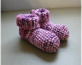 Crochet Slipper Socks Booties Mixed Colors Size 9 10