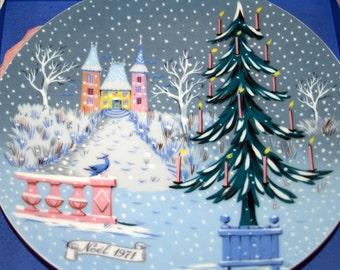 Haviland Limoges NOEL 1971 Christmas Holiday Plate Wall Decor