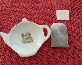 "Ceramic Teabag Holder Irish  Top O' The mornin 4.5"""