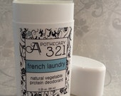 Vegan Natural Deodorant French Laundry Scent