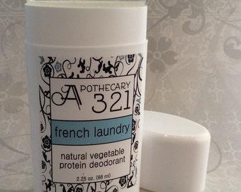 Vegan Natural Deodorant French Laundry Scent