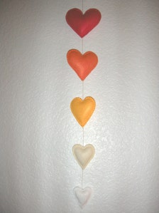 Ascending ombre orange heart felt garland mobile bunting decor for Arland decoration