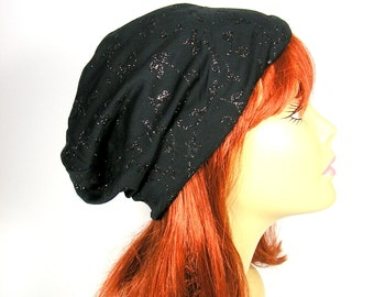 Glam Sparkle Slouchy Beanie Slouch Hat Glam Hats for Hair Loss Glam Chemo Caps Glitter Slouch Hats for Women Chic Slouch Hats Alopecia Hats