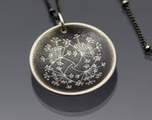 Queen Anne's Lace Necklace - etched sterling silver