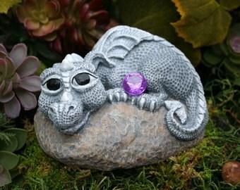 Baby Dragon Statue - Devious Devlin - Garden Decor Outdoor Art
