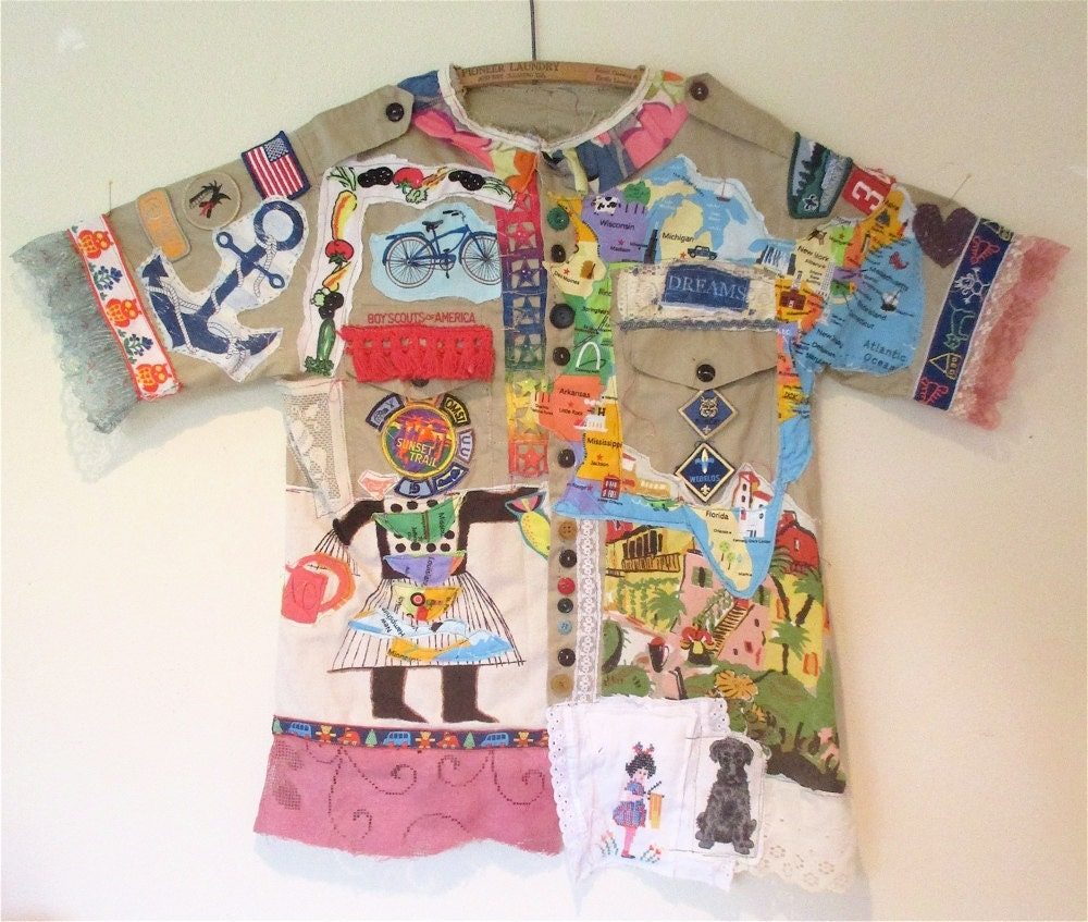 vintage boy scouts america shirt wearable fabric