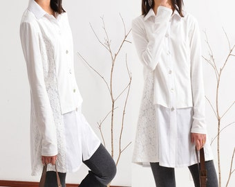 Love Letter - layered cotton shirt tunic dress (Y1502)