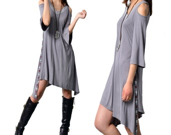 Moroccan breeze - zen kimono sleeve tunic dress (Q1506)