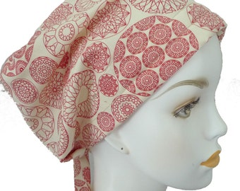 Red Antique White Cancer Chemo Scarf Hat Turban Hair Head Wrap Cap Hair Loss Alopecia Headcover