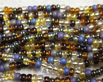 6/0 Wheatberry Mix Genuine Czech Glass Preciosa Rocaille Seed Beads 11 grams