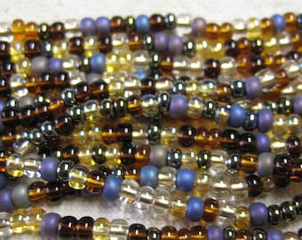 6/0 Wheatberry Mix Genuine Czech Glass Preciosa Rocaille Seed Beads SB6-MIX04