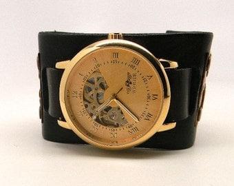 SALE...Steampunk mechanical watch. Steampunk wrist watch.