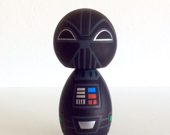 Kokeshi doll. Star Wars inspired Custom Darth Vader