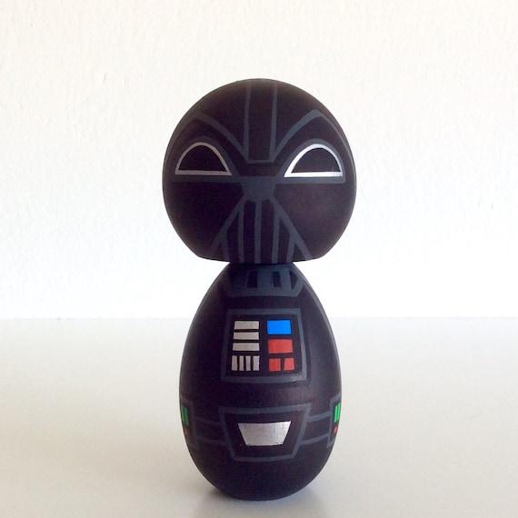 Kokeshi doll. Star Wars inspired Custom Darth Vader