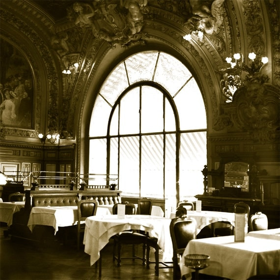 Le Train Bleu Grand Dining Room  Archival Print