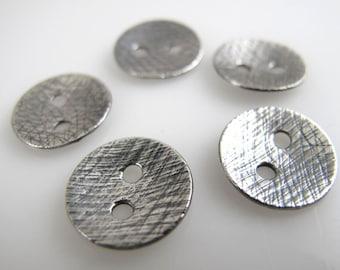 Sterling Silver Designer Buttons, 1/2 Inch, Wrapped Bracelets