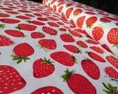 SALE -- Strawberry Metro Market Fabric designed by Margaret Berg for Robert Kaufman - 1 yard