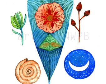 Natural and Mystic Collection. Art print