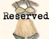 Reserved Custom Listing for Nichole
