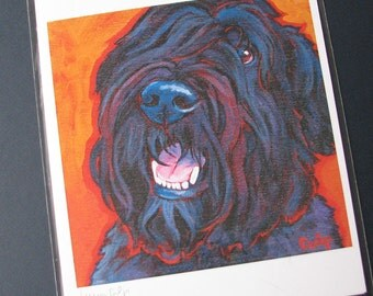 BOUVIER 8x10 Signed Dog Art Print from Painting by Lynn Culp