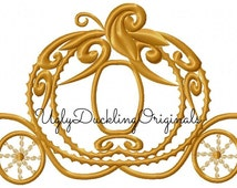 Cinderella Coach  Applique Carriage Machine Embroidery Applique Design Digital Download