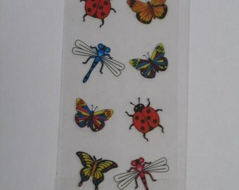 Ladybug Butterfly Dragonfly Stickers