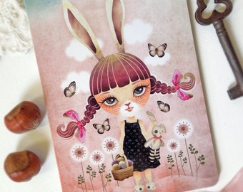 Sugar Bunny Postcard Postcrossing, Easter Bunny, Sweet Rabbit, Easter Postcards
