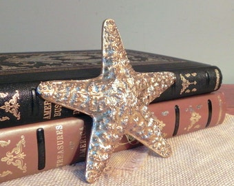 Brass starfish decor vintage gold embossed 2 available