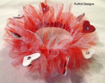 XS Dog Tulle Dog Collar for Valentines Day New