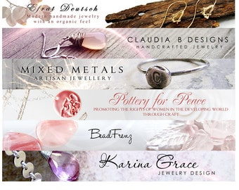 Etsy banner shop banner avatar set shop set Etsy shop set custom banner design customized personalized affordable