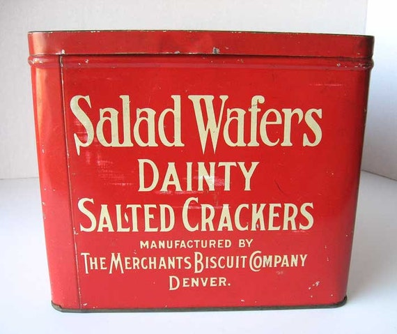 Denver Biscuit Company: Vintage 1920's Salad Wafers Dainty Salted Crackers
